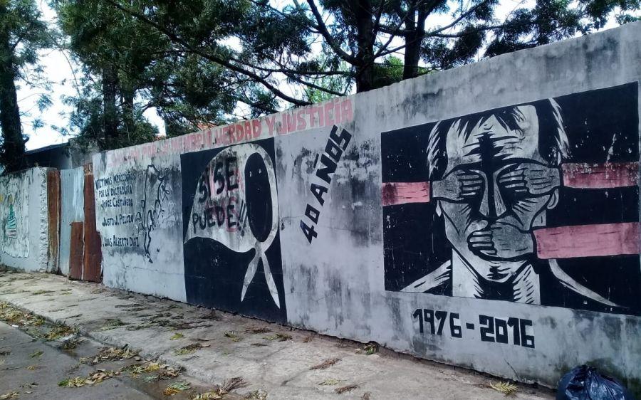 Resultado de imagen para mural de la dictadura en mercedes en corrientes
